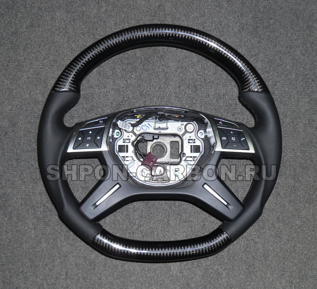 Изготовление декоративных вставок из карбона (углеткань) + Анатомия руля+ перетяжка руля в кожу Mercedes-Benz G-Class Gelandewagen (Мерседес Бенц Гелендваген)