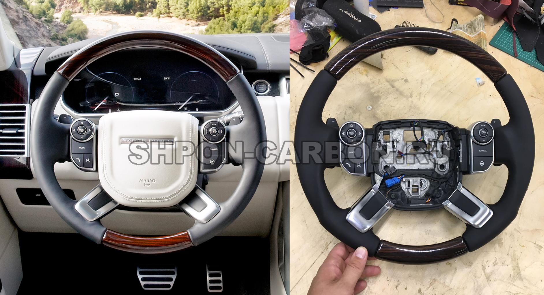 Сохранение декоративных вставок из натурального шпона (дерева) + анатомия руля + сохранение подогрева + перетяжка руля в кожу Range Rover Vogue (Рендж Ровер Вог)