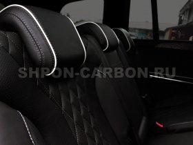 Перетяжка салона автомобиля кожей и алькантарой Мерседес-Бенц ДжЛ 166