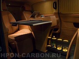 отделка рояльным лаком, черный лак, Мерседес-Бенц Виано, Mercedes-Benz Viano