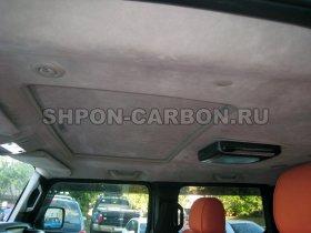 Перетяжка салона автомобиля кожей и алькантарой Хаммер 2