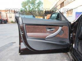 Перетяжка салона автомобиля кожей и катаральной Бмв 3 Джт