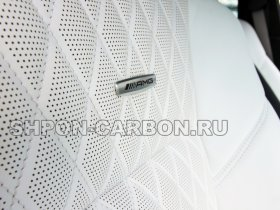 Перетяжка салона автомобиля кожей и алькантарой Мерседес-Бенц ЦЛС 63 АМГ