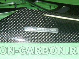 отделка карбоном, углетканью, Ауди А6
