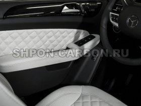 Перетяжка салона автомобиля кожей и алькантарой Мерседес-Бенц ДжЛ